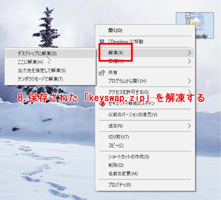KeySwapの解凍
