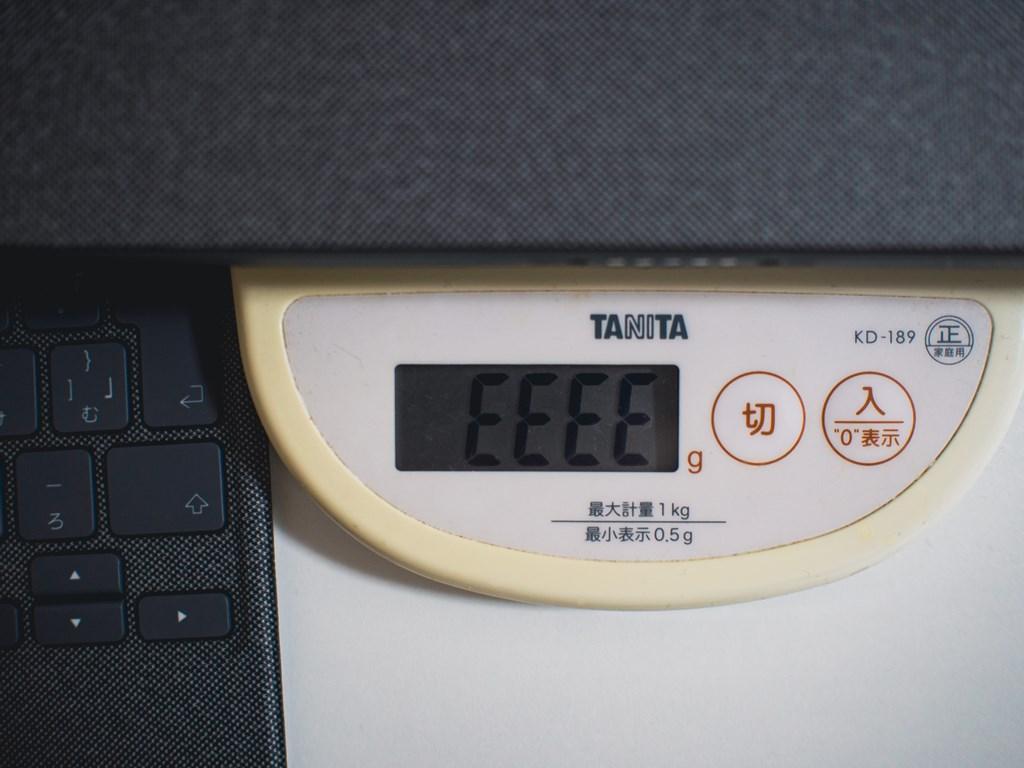 計量器は「ERROR」表示